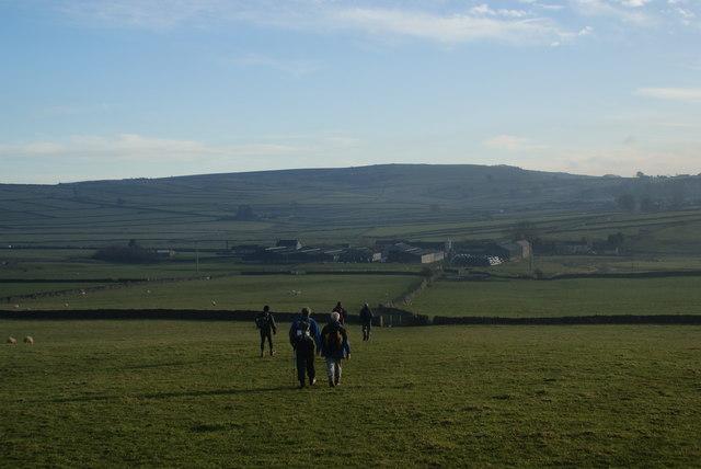 Fields above Wardlow Mires