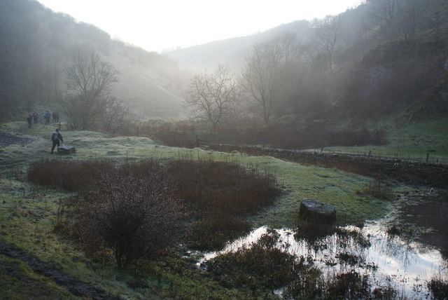 Mist in Cressbrook Dale
