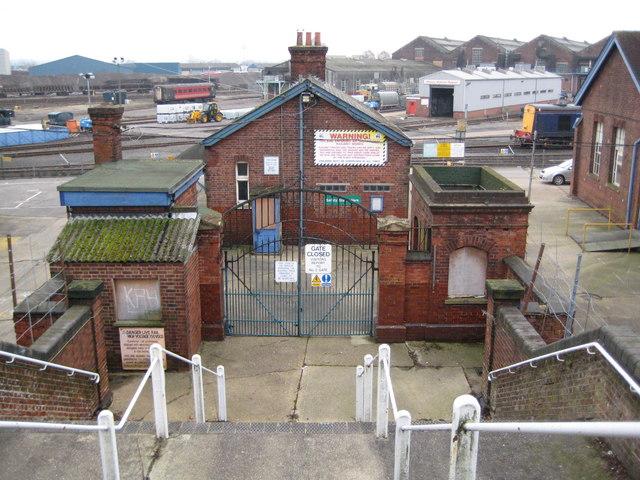 Eastleigh Railway Works entrance