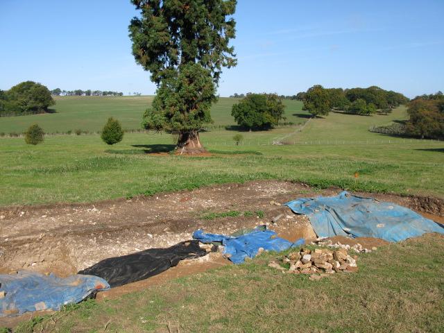 Archaeological dig near Nonington Court