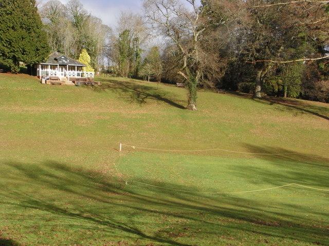 Cricket pitch and pavilion, Cockington
