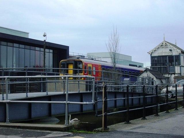 Approaching Brayford Wharf East Level Crossing