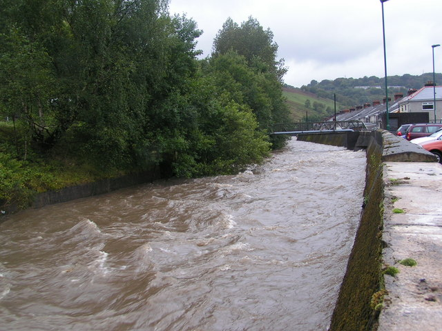 River after heavy rain