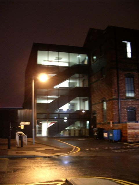 University of Lincoln, library by night