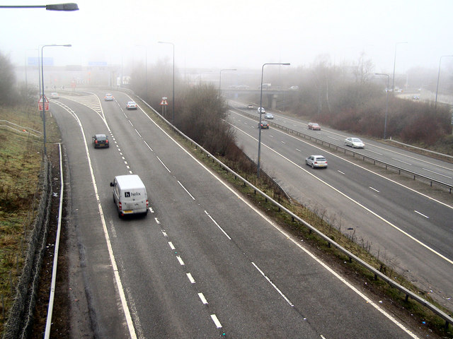 M60 Slip road, Junction 18 Simister Island