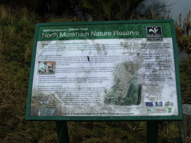 Visitor information, North Muskham lake