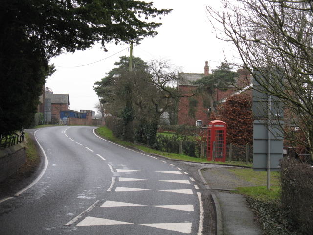 Warmingham - Main Road & Telephone Box