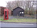 SJ7061 : Warmingham - Telephone Box & Exchange by Peter Whatley
