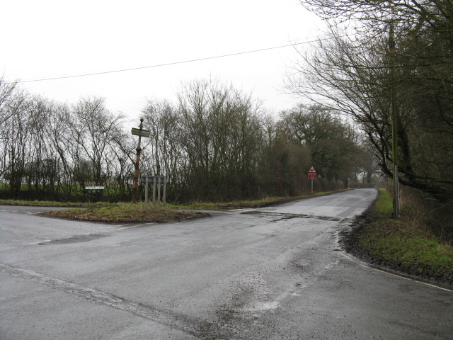 Dragon's Lane Crossroads From White Hall Lane