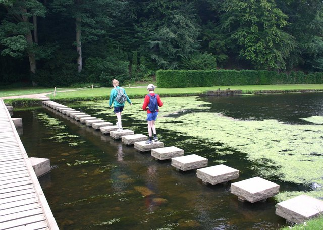 Stepping Stones, Studley Royal Water Gardens