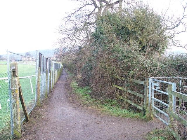 Racecourse footpath