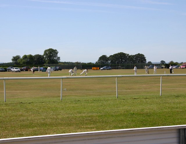 Cricket match, Thirsk Racecourse