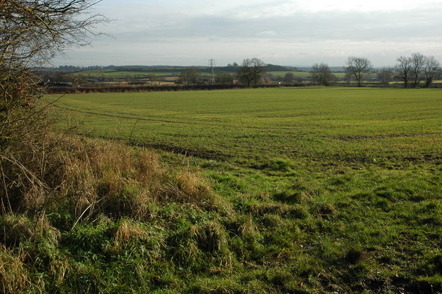 Arable land near Inkberrow