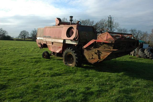 Old combine harvester