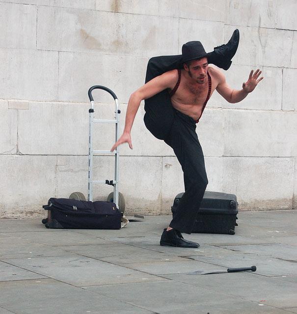 Street entertainer in Trafalgar Square