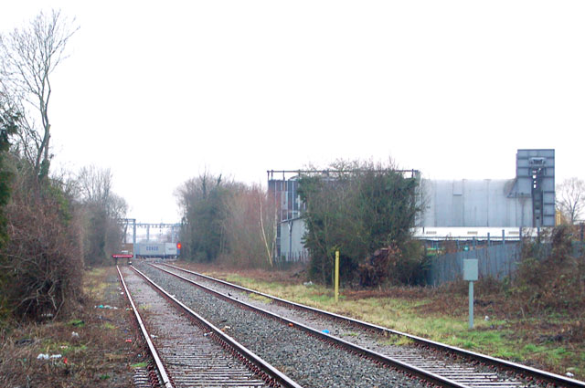Looking east to junction of Rugby-Leamington line and mainline