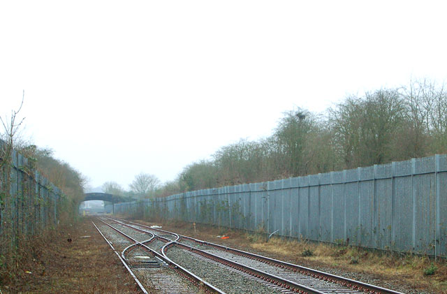 Crossover on truncated Rugby-Leamington railway