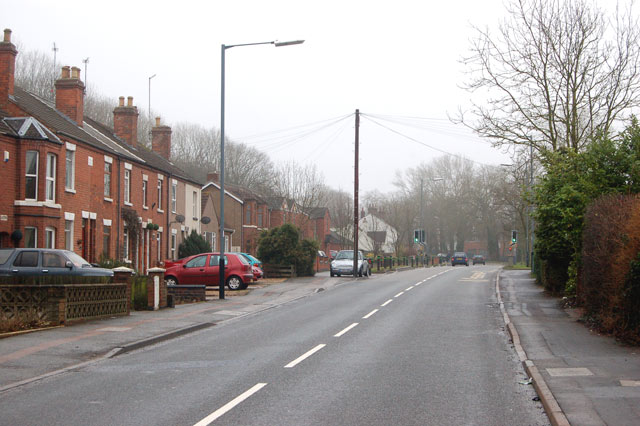 Newbold Road looking towards Rugby