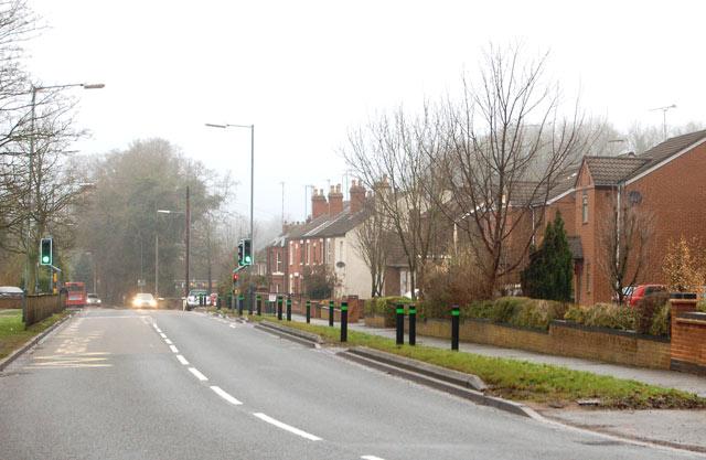 Newbold Road looking towards Newbold