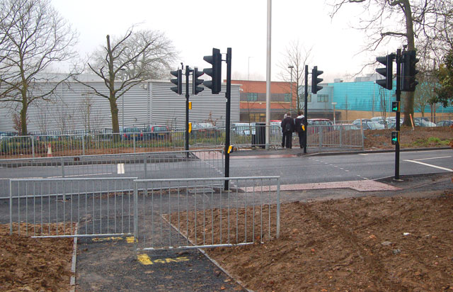 New pedestrian crossing on Newbold Road, Rugby