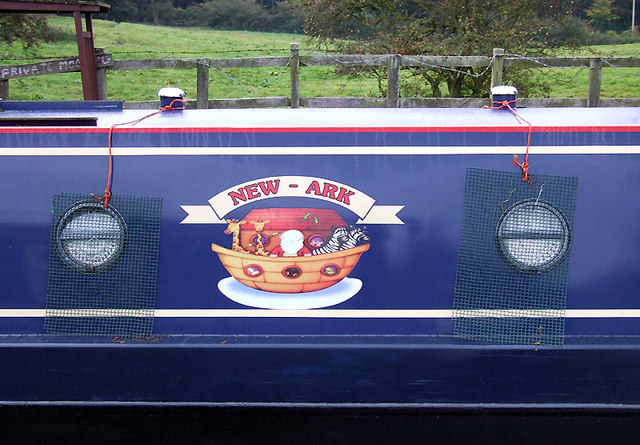 Narrowboat on the Trent and Mersey Canal