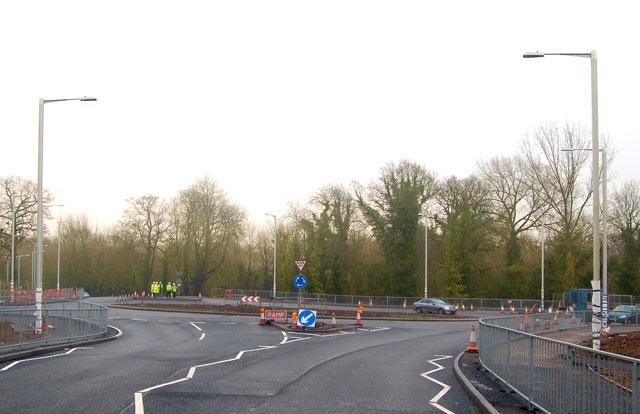 New roundabout, Newbold Road