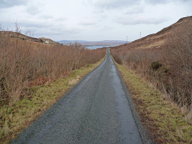 Road below Guala Leacach