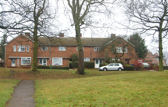 Former council housing on Yates Avenue, Rugby