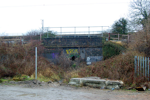 Obstructed footpath bridge under the railway west of Trent Valley Junction
