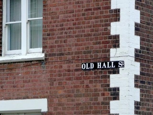 Old Hall Street sign, Wolverhampton