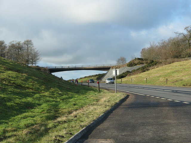 A361, the North Devon relief road in a cutting over Hare's Down