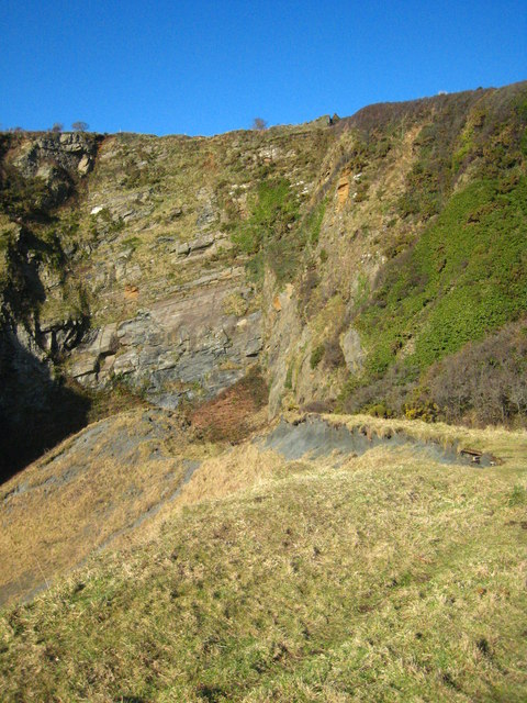 Old quarry north of Porthoustock