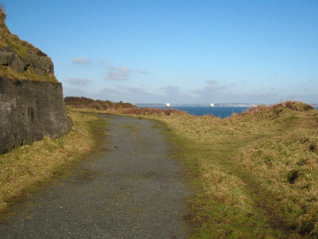 Old haul road at St Keverne Quarries
