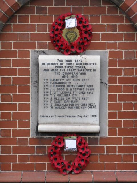 Great War Memorial, Ideal Standard Works