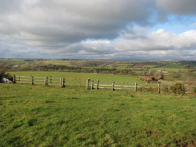View from the hill above Burcombe