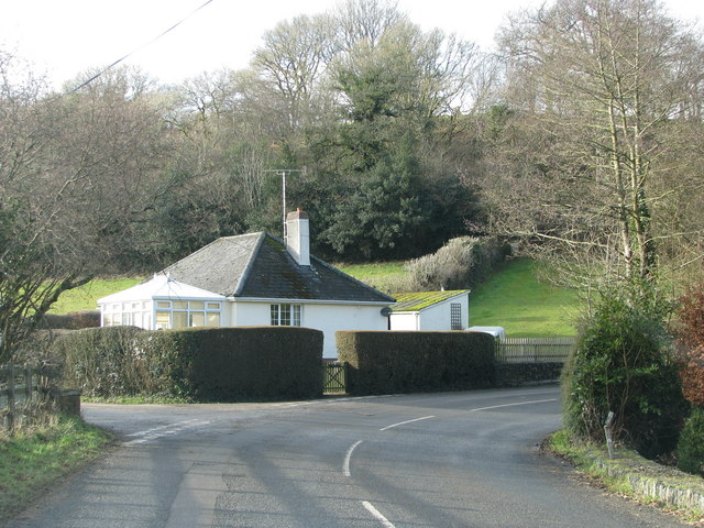 Cottage by the road junction east of Ash Mill