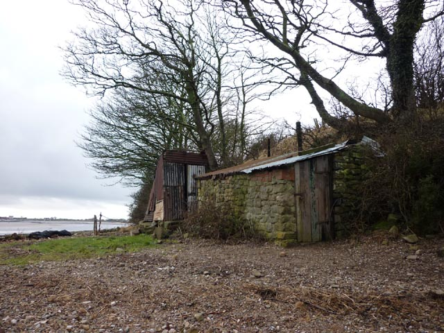 Sheds on the shore, Bazil Point