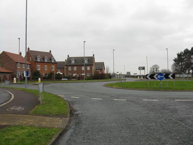 Middlewich - Centurion Way Roundabout & Housing Estate