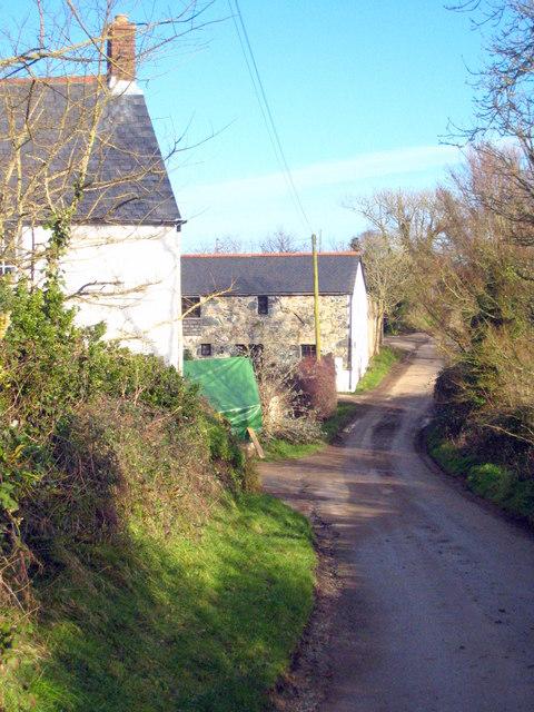 Farm buildings at Treglossick