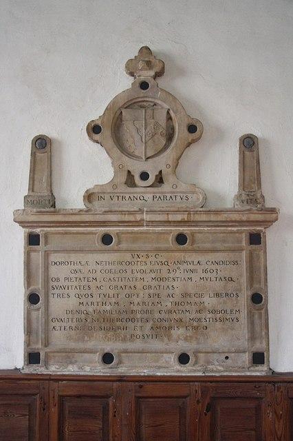 Dorothea Nethercootes memorial