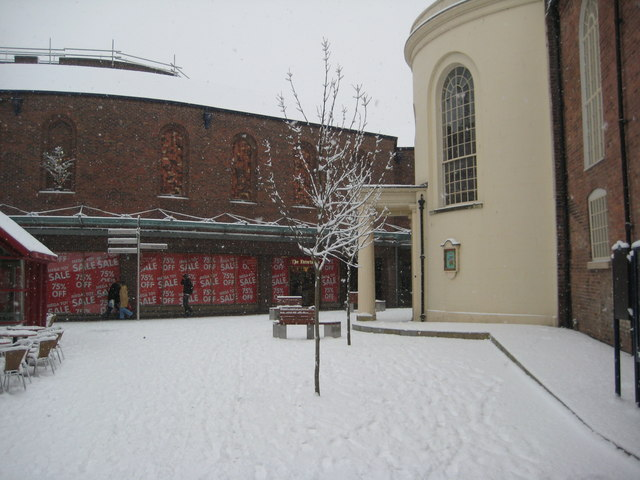 Snow in the Crowngate, Worcester