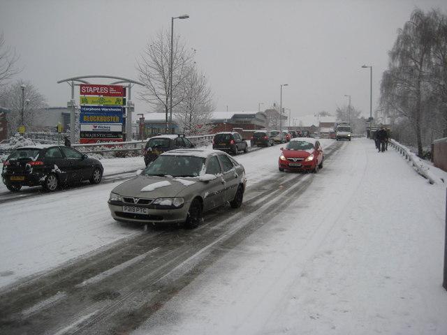 George Street in snow