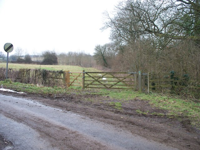 Start of footpath