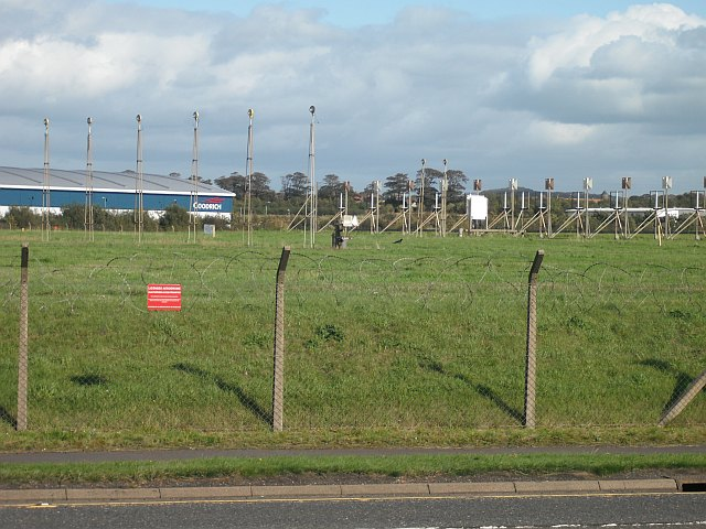 Runway approach lights, Prestwick Airport