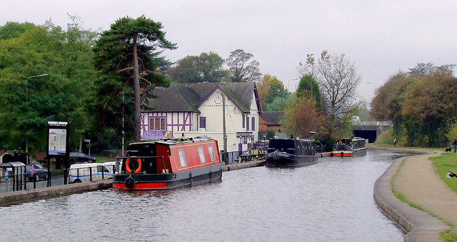 Trent and Mersey Canal at Armitage, Staffordshire