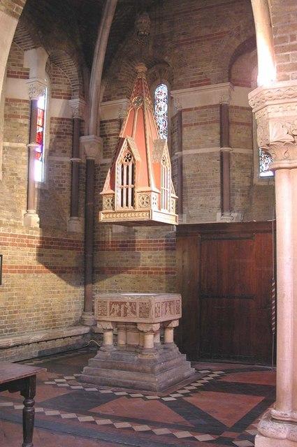 St Peter, Kennington Lane, London SE11 - Font