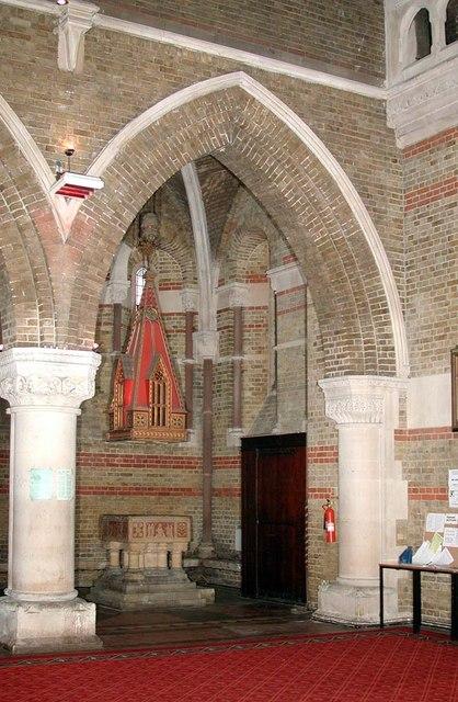 St Peter, Kennington Lane, London SE11 - Baptistry