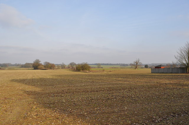 View over the fields