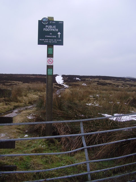 Peak and Northern footpath sign