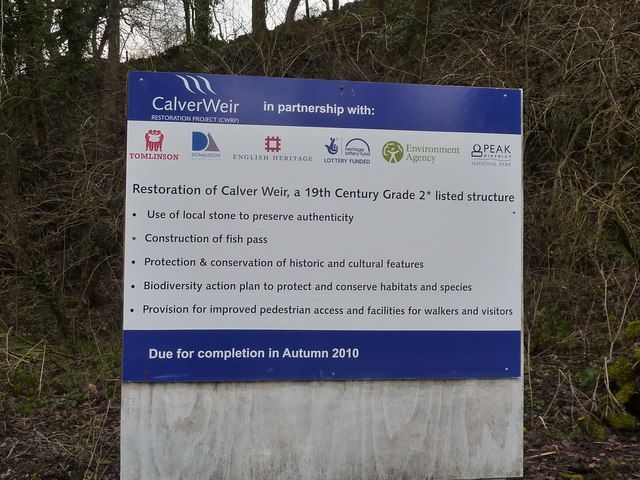 Calver Weir repairs; notice